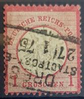 DEUTSCHES REICH 1872 - DRESDEN Cancel - Mi 19 - Grosses Brustschild - 1gr - Gebraucht