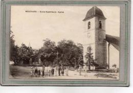 CPA - MOUCHARD (39) - Aspect Du Quartier De L'Ecole Supérieur Et De L'Eglise En 1919 - Altri Comuni