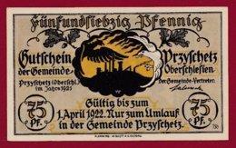 Allemagne 1 Notgeld  De 75  Pfenning Stadt Przyschetz   (  RARE ) Dans L 'état N° 4977 - [ 3] 1918-1933 : République De Weimar