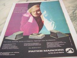 ANCIENNE PUBLICITE PORTATIF 621  PATHE MARCONI 1960 - Music & Instruments