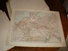 Deutsches Reich Staatenubersicht Volks Und Familien Atlas A Shobel Leipzig 1901 Big Map - Cartes Géographiques