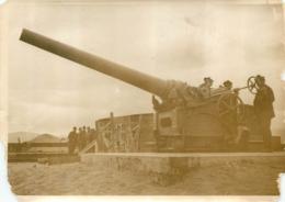 GRANDE PHOTO ORIGINALE AGENCE SYRAL  GROSSE PIECE D'ARTILLERIE   FORMAT  17 X 13 CM - Guerra, Militares