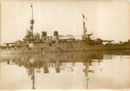 GRANDE PHOTO ORIGINALE AGENCE SYRAL LE REQUIN  DIVISION NAVALE DE SYRIE DECORE DE LA CROIX DE GUERRE FORMAT  17 X 13 CM - Barche