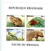Rwanda 1998-Crapaud,escargot,porc épic,caméléon-B110***MNH-NON Dentelé - Timbres