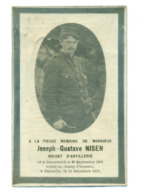 WO1 / WW1 - Doodsprentje Joseph Gustave Nisen - Gemmenich / Dainville (FR) - Gesneuvelde - Obituary Notices