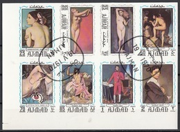 629 Ajman 1970 Impressionismo Quadro Dipinto Da J.A.D. Ingres Preoblit. Neoclassicismo Painting Imperf. Tableaux - Ajman