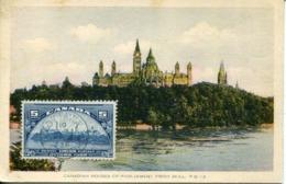 48521 Canada, Maximum 1936,  The Panorama Of Ottawa.  Circuled Card To Belgium ! - Maximumkarten (MC)