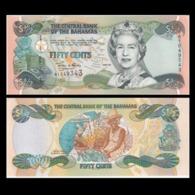 Bahamas 1 2 Dollar 50 Cents 2001 QEII Pick 68 - Bahamas
