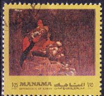 Ajman-Manama - Anbetung Der Hirten; Von Caravaggio (MiNr: B958aA) 1972 - Gest Used Obl - Manama