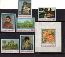 Rumania Nº 2822-27 + H.B. 111 Tema Pintura, Serie Completa En Nuevo 12 € - Rumania