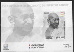 PARAGUAY, 2019, MNH, GANDHI, S/SHEET - Mahatma Gandhi