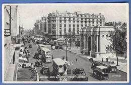 LONDON, Marble Arch & Oxford Street, Doppeldeckbusse, Um 1935, Sehr Guter Zustand - London