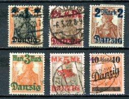 DE   Danzig    ---    Y&T   38 - 43    X / Obl     Mi   26 - 31      ---     TB - Danzig