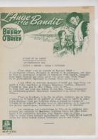 Lettre D'information De La MGM - L'ange Et Le Bandit ( Bad Bascomb ) Wallace Beery - Margaret O'Brien - Werbetrailer
