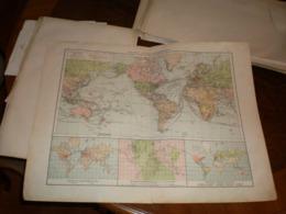 Kolonial Und Weltverkehrskarte   Volks Und Familien Atlas A Shobel Leipzig 1901 Big Map - Cartes Géographiques