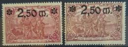 DEUTSCHES REICH 1920 - MLH - Mi 118b, 118c - 2,50M - Allemagne