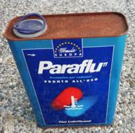 Bidon D'huile ITALIE FIAT  PARAFLU 11 Protection Radiateur Ancien En Tole Pour Collection - Voitures