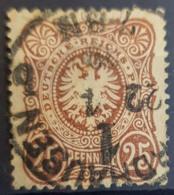 DEUTSCHES REICH 1875 - NORDHAUSEN Cancel - Mi 35 - 25 Pfennige - Gebruikt