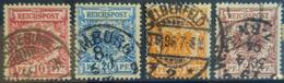 DEUTSCHES REICH 1889 - Canceled - Mi 47, 48, 49, 50 - 10pf 20pf 25pf 50pf - Gebruikt