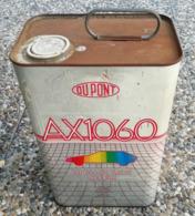 DUPONT 5 Litres  AX1060 HIGH SOLIDS CLEAR ( Origine Inconue ) Bidon D'huile Ancien En Tole Pour Collection - Voitures