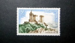 FRANCE 1958 N°1175 ** (CHÂTEAU DE FOIX. 15F BLEU, BRUN ET VERT) - Nuovi