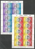 10x JERSEY - MNH - Europa-CEPT - Telephone System - 1979 - Folded Sheets - 1979