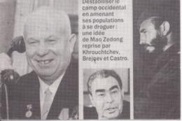 MAO ZEDONG - KROUTCHEV - BREJNEV Et CASTRO - Déstabiliser Le Camp Occidental... CPSM - Filosofia & Pensatori
