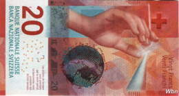 Suisse 20 Francs (P76) 2015c (Pref: R) -UNC- - Switzerland