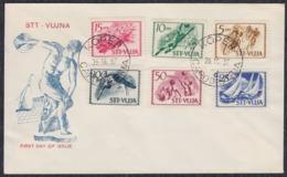 Yugoslavia Italy Trieste Zone B 1952 Sport, FDC Michel 60-65 - Zonder Classificatie
