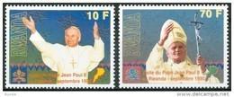Rwanda Ruanda 1990 Yvert 1307-1308  OBCn° 1377-78 *** MNH  Cote 20 Euro Pape Jean-Paul II - Rwanda