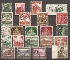 Allemagne III ème Reich 1934/37 - Petit Lot De 21  Timbres° Différents -  Série Complète : Secours D'hiver 36 (585/90) - Vrac (max 999 Timbres)