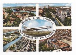 31 Toulouse à Vol D'Oiseau N°712 Sud Aviation Avion SE 210 Caravelle Stade Stadium Foot Rugby Grands Immeubles - Toulouse