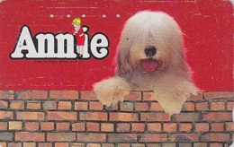 RARE Télécarte Japon / 110-011 - Film Cinéma Musical - ANNIE - Animal Chien BOBTAIL - Dog Japan Movie Phonecard -  11728 - Cinema
