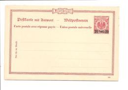 Deutsche Auslands-PA Türkei P 6 ** - 20 Para A. 10 Pf Adler - Doppelkarte  DD 399 - Officina: Turquia