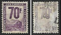 PETITS COLIS  1944-47 - YT 17 (cote 28e) Et YT 18 (cote 8e) - Oblitérés - Parcel Post