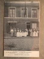 Cpa Souvenir De Vilvorde - Café Restaurant Au Duc De Brabant - Rue Des Poissonniers Beafsteak De Cheval De Kuiper - Vilvoorde