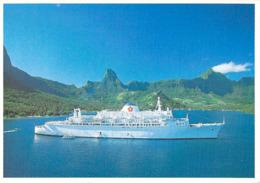 Polynésie Française-American HAWAI CRUISES SS Liberté  (paquebot)(:Photo Teva Sylvain Tahiti  609) @PRIX  FIXE - Polynésie Française