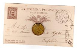 S4840 CARTOLINA POSTALE 10 CENTESIMI PALERMO TIMBRO S. MAURO CASTELVERDE - Palermo