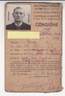 France Pétain Saint Maurice Val Marne Zone Occupée Carte D'identité Ministère Intérieur Garde Voie Chemin De Fer - 1939-45