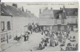 02 FERE En TARDENOIS  Le Marché Place De La République  CPA écrite En 1915 - Fere En Tardenois