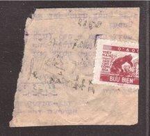 NORTH VIET NAM NORD Riz Rice Monnaie 0k600 Sur Large Fragment Lettre - Viêt-Nam
