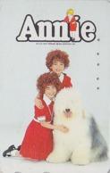 Télécarte Japon / 110-011 - Film Cinéma MUSICAL - ANNIE - Animal Chien Bobtail - Dog Japan Movie Phonecard - 11734 - Cinema