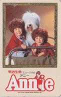 Télécarte Japon / 110-011 - Film Cinéma MUSICAL - ANNIE - Animal Chien Bobtail - Dog Japan Movie Phonecard - 11735 - Cinema