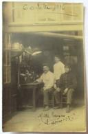 CPA PHOTO OCTOBRE 1916 CASQUES DE SAPEURS POMPIERS CENTRAL TELEPHONIQUE ? SOLDATS - Guerra 1914-18