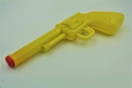 Vintage TOY GUN :  WATER PLASTIC SQUEEZE SQUIRT REVOLVER - L=15cm - 1950s - Keywords : Cap - Cork - Rifle - Pistol - - Decotatieve Wapens