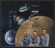 Moldova (2019) - Block -  /  Espace - Space - Moon - Apollo - Astronaut - Europa
