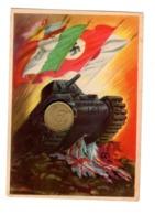 S6474 CARTOLINA FRANCHIGIA CARRO E BANDIERA NON VIAGGIATA - War 1939-45