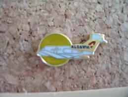 Pin's Avion De La Compagnie Aérienne ALSAVIA - Luftfahrt
