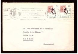 España. Sobre Sellado. Sello. Matasellos 1964. Cadiz. Tanger.  Publicidad. - 1931-Hoy: 2ª República - ... Juan Carlos I
