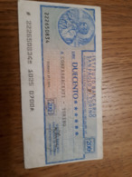 ITALIE Chèque Instituto Bancario San Paolo Di Torino 21/1/1976 Bon état - Chèques & Chèques De Voyage